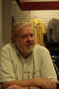 Chuck Anderson during a book signing at the college bookstore (Photo, compliments of Alexandros Vogiatzis; Compass)