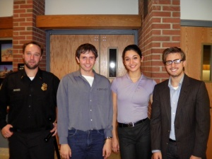 (from left to right) David Morrissey, Adriana Amaya, Jarrett Culotta