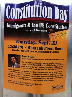 Constitution Day- Guest Speaker Amol Sinha