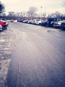 Crowded parking lots, snowy weather and long commutes are affecting student campus participation.