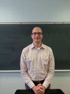 Professor Morelli in his classroom.