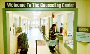 The entrance to the Counseling Center.