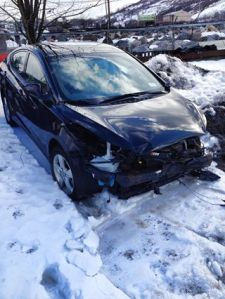 Victoria Ciresi's car after the accident.