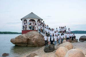 Photo taken at Quinipet Retreat Center of last summer's orientation team.  Photo Courtesy of Personal Facebook Profile.
